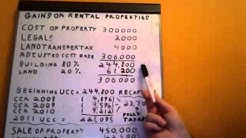 Capital Gains & Recapture on Disposition of a Rental Property