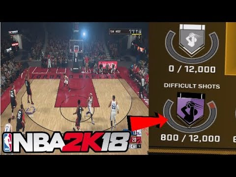 HOW TO UNLOCK DIFFICULT SHOTS BADGE FAST NBA 2K18