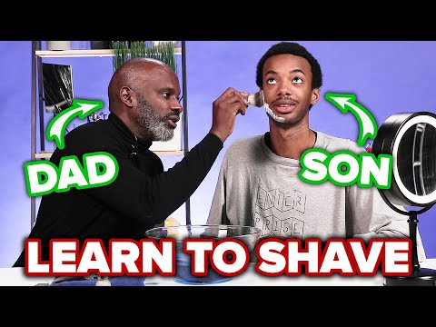 Black Dads Teach Their Sons How To Shave