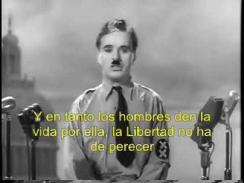 """El gran dictador (The Great Dictator) Charles Chaplin.""""Lo siento"""