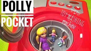 POLLY POCKET IN LAVATRICE - POLLY POCKET IN OUR TOY WASHING MACHINE