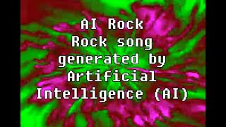 Computer generated music and visual. This Rock song was composed by...