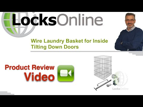 Wire Laundry Basket for Inside Tilting Down Doors   LocksOnline Product Review