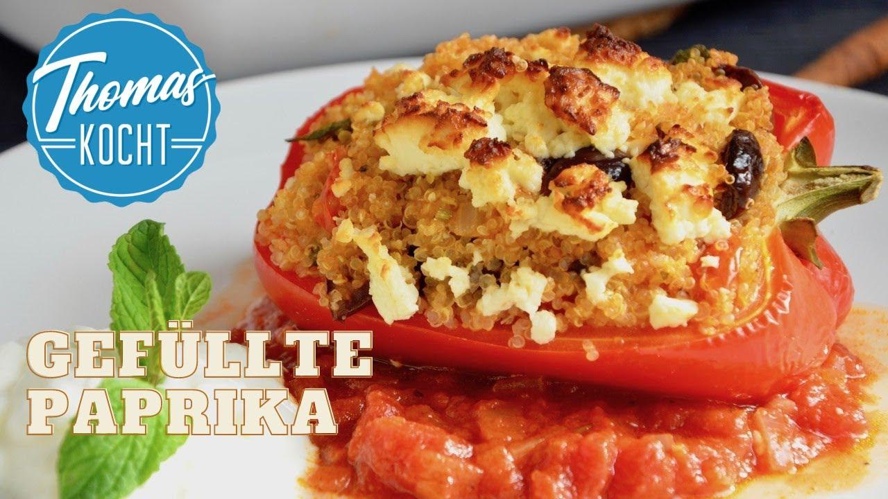 Gefüllte Paprika Mit Quinoa Vegetarisch Youtube