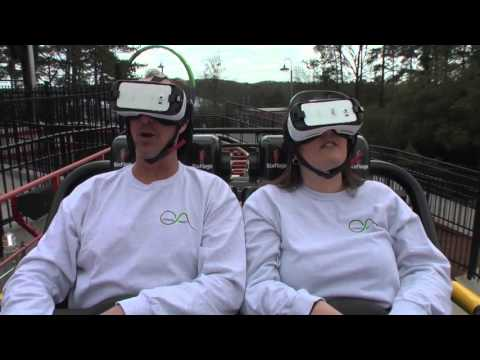 New Revolution Virtual Reality Coaster Reverse POV | Six Flags Over Georgia