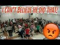 FOOD FIGHT IN SCHOOL CAFETERIA   THE LEROYS
