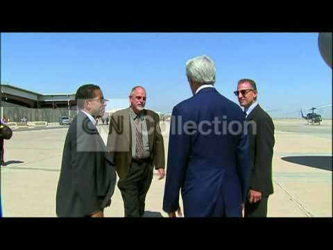 IRAQ:JOHN KERRY BAGHDAD ARRIVAL