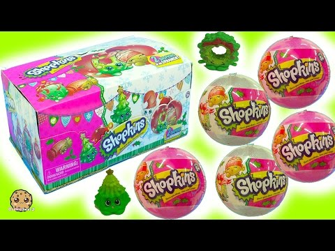 Thumbnail: Full Box Shopkins Surprise Holiday Christmas Blind Bag Ornament Balls - Complete Exclusive Set