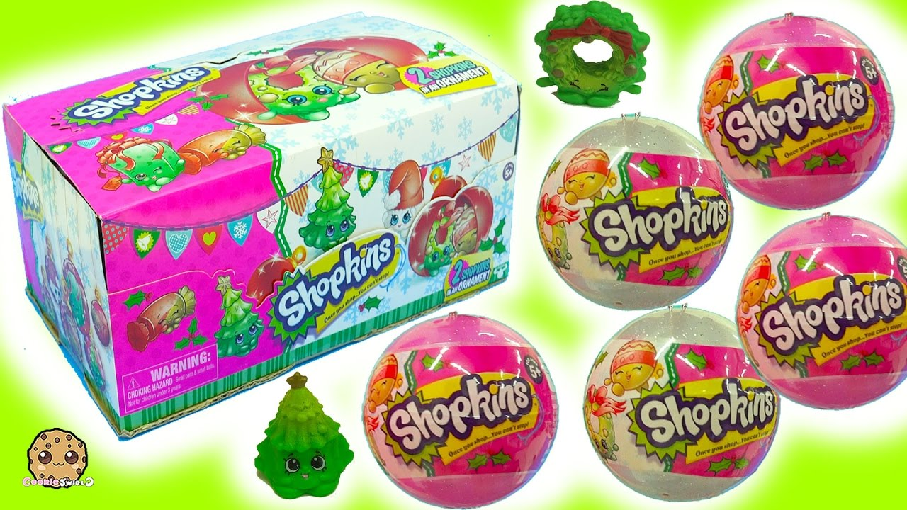Full Box Shopkins Surprise Holiday Christmas Blind Bag Ornament ...