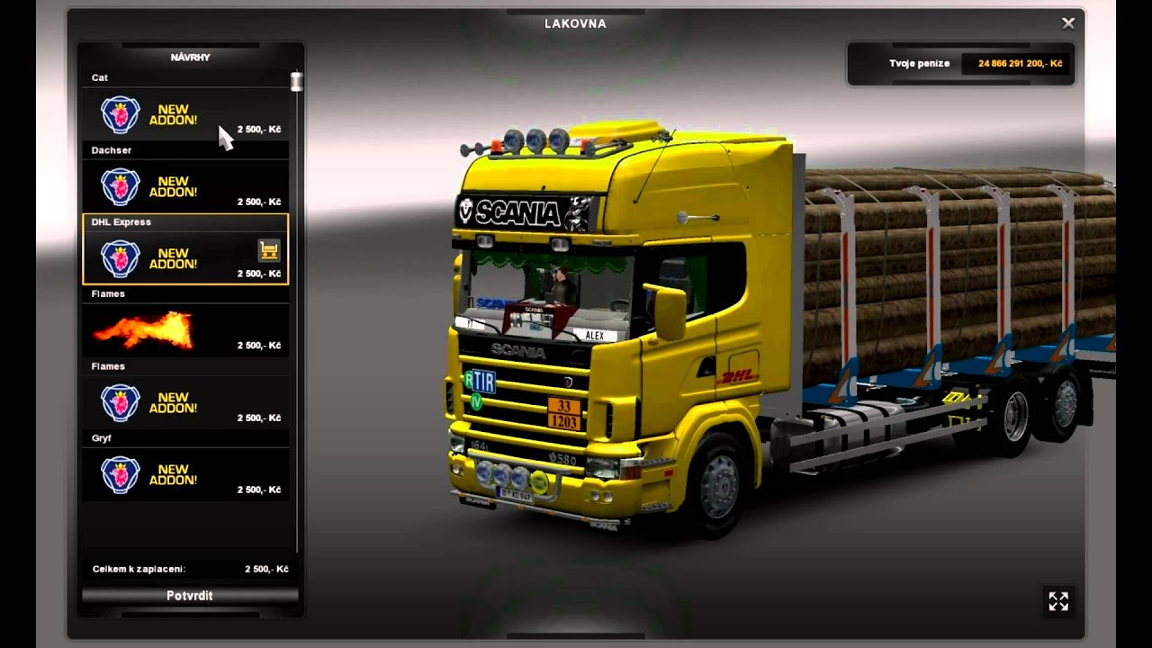 euro truck simulator 2 scania series 4 tandem trailer. Black Bedroom Furniture Sets. Home Design Ideas