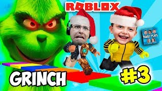 ROBLOX ESCAPE DO GRINCH! SALVANDO O NATAL DO FAMILY PLAYS!! (ESCAPE THE GRINCH OBBY)