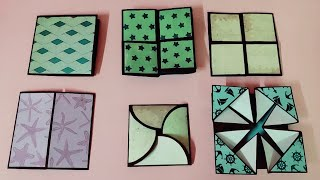 6 different cards tutorial for scrapbook | cards ideas for scrapbook | by crafteholic