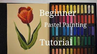 Easy Red Tulip Pastel Tutorial | BEGINNER Pastel Painting Lesson screenshot 4