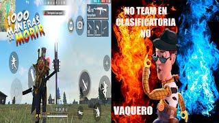 PROHIBIDO EL TEAM EN CLASIFICADORA 1000 MANERAS DE MORIR CON DIEGOREYXD FREE FIRE