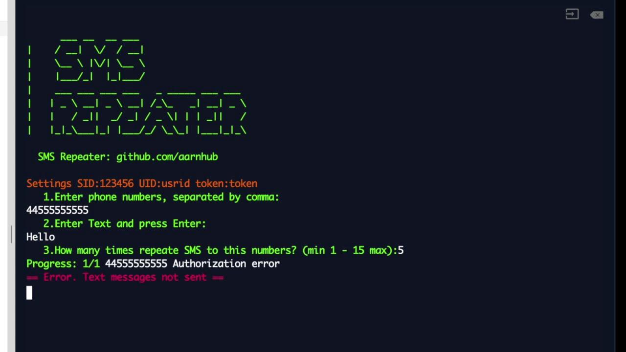 SMS bomber online  Send bulk SMS API script