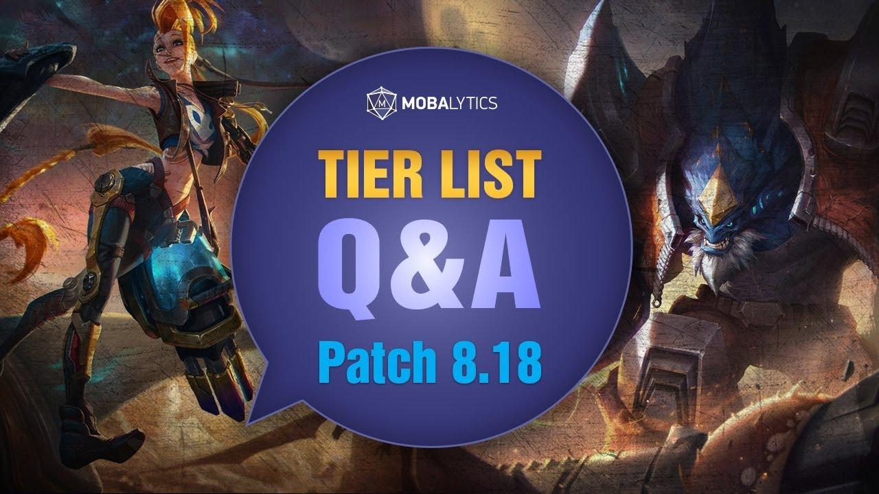 League of Legends Patch 8 18 Tier List for Climbing Solo