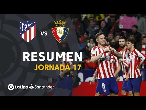 Resumen De Atlético De Madrid Vs CA Osasuna (2-0)