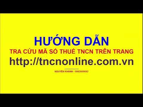 Hướng Dẫn Tra Cứu Mã Số Thuế TNCN Trên Trang Http://tncnonline.com.vn