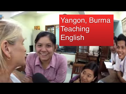 Yangon, Burma, Teaching English HD