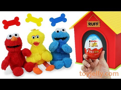 Super Kinder Joy Surprise Egg Baby Toys Elmo Big Bird Cookie Monster Learning Resources Ruff's House