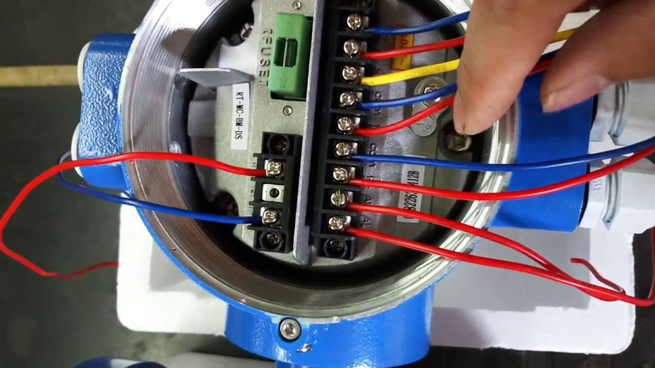 integrated electrimagic flow meter wiring  YouTube