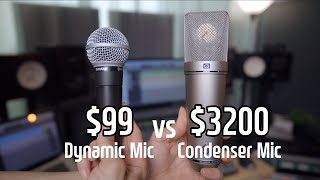 Dynamic Mic vs Condenser Mic for Recording Vocals I Shure SM58 vs Neumann U87