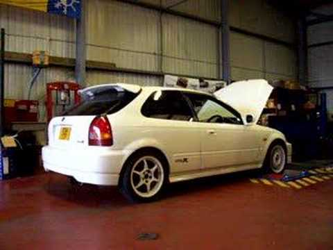 honda civic ek9 type r on rolling road youtube. Black Bedroom Furniture Sets. Home Design Ideas