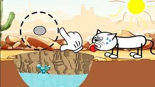Hello Cats - Help The Cat Drink Water - Gameplay Walkthrough PART 1 Level 1 - 50