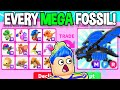 Trading EVERY *MEGA FOSSIL EGG PET* In Adopt Me AT ONCE!! Roblox Adopt Me Trading MEGA DINO TRADES