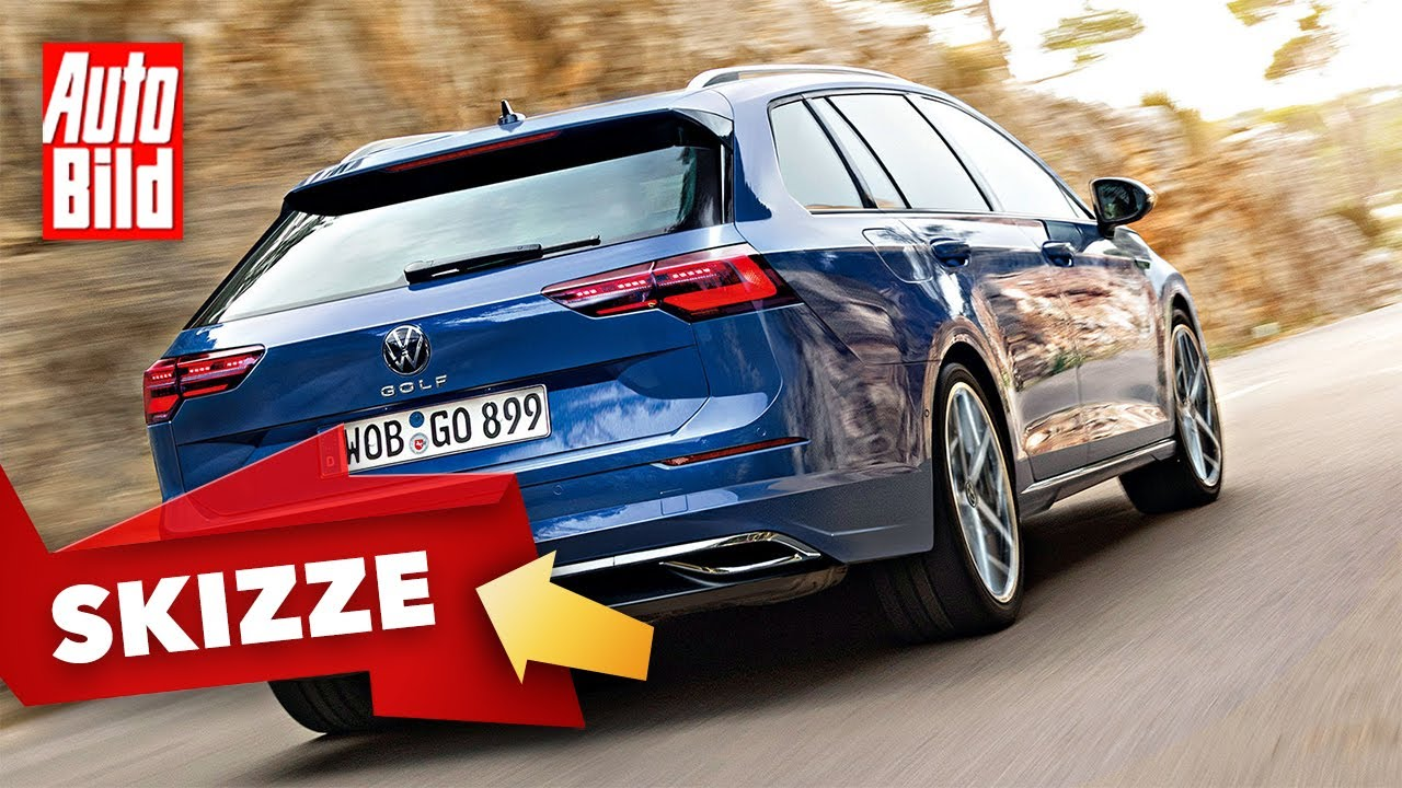 VW Golf 8 Variant (2020): Skizze - Neuvorstellung - Kofferraum - Info