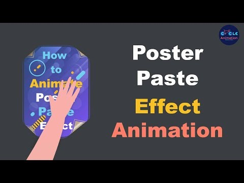 How to Animate Poster Paste Effect Animation using After Effects