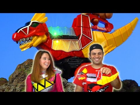 Rumble N Roar T-Rex Zord Review! (Power Rangers Dino Charge)