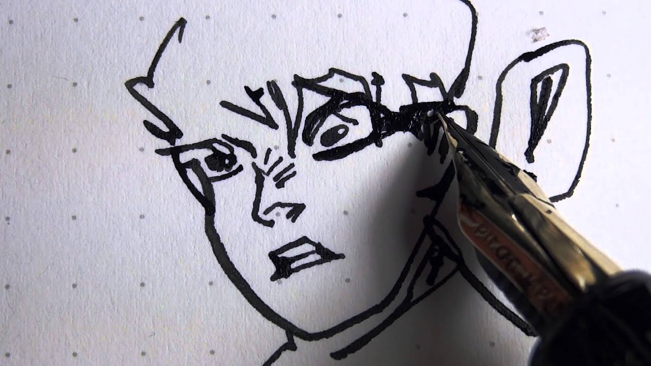 Drawing with the Justus 95 Fountain Pen — 1080p - YouTube