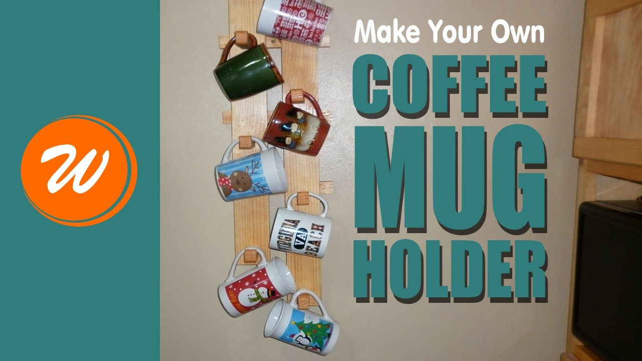 Coffee Cup Rack Under Cabinet Diy Coffee Mug Rack Youtube