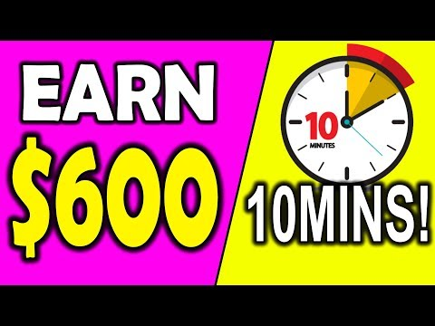 Earn $600 With 10 MIN Work as a COMPLETE Beginner!? (Make Money Online!)