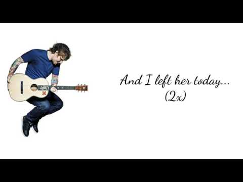 Saturday - Ed Sheeran (Lyric Video)