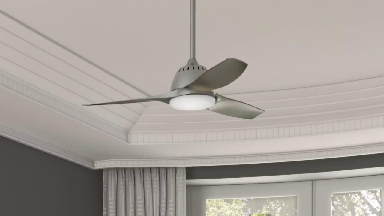 Casablanca wisp ceiling fan in pewter youtube - Little max ceiling fan ...