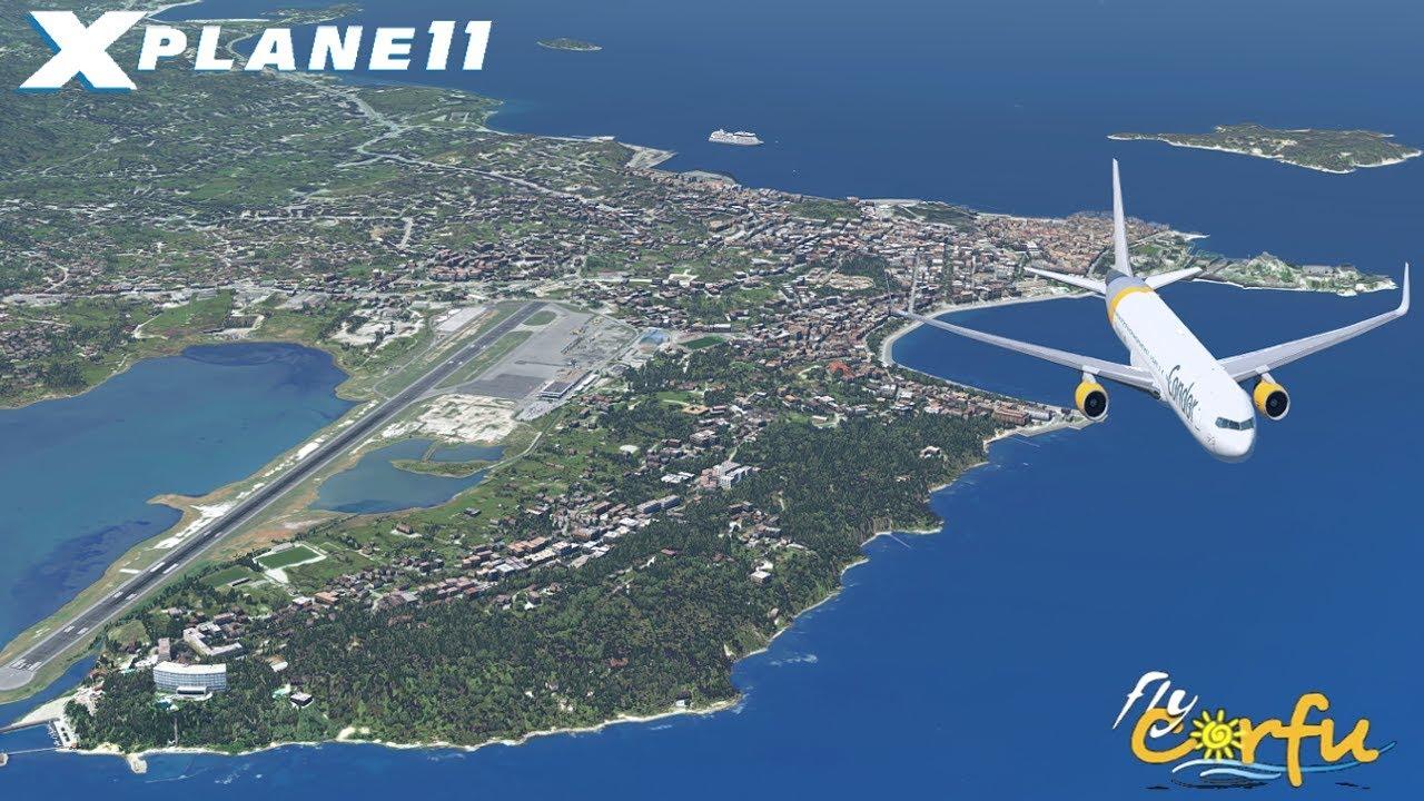 NEW* FlyTampa ☆ Corfu LGKR [XP11] FlightFactor B767   HIGH Settings