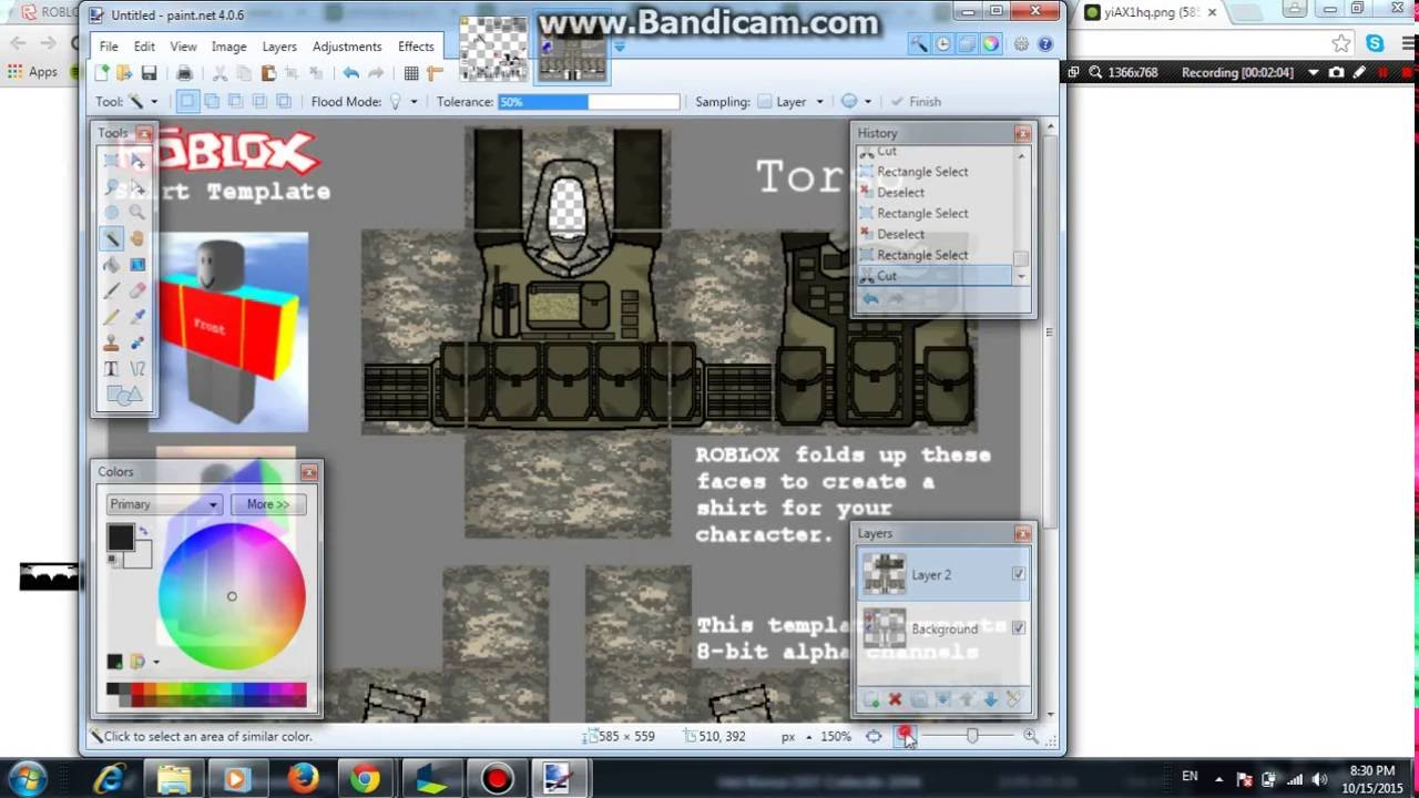 How to make a military uniform ROBLOX PAINTNET YouTube