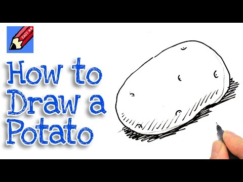 Learn how to draw a potato Real Easy for kids and beginners - 동영상