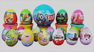 Many Surprise Eggs Kinder Surprise Guardians Of The Galaxy SpongeBob Minnie Mouse Ben 10 Toys Thumbnail