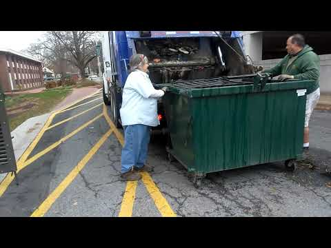 Waste industries and the city of newark Delaware garbage trucks