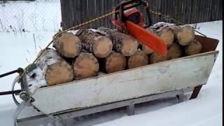 Снегоход рыбинка.Делаем дрова!!!