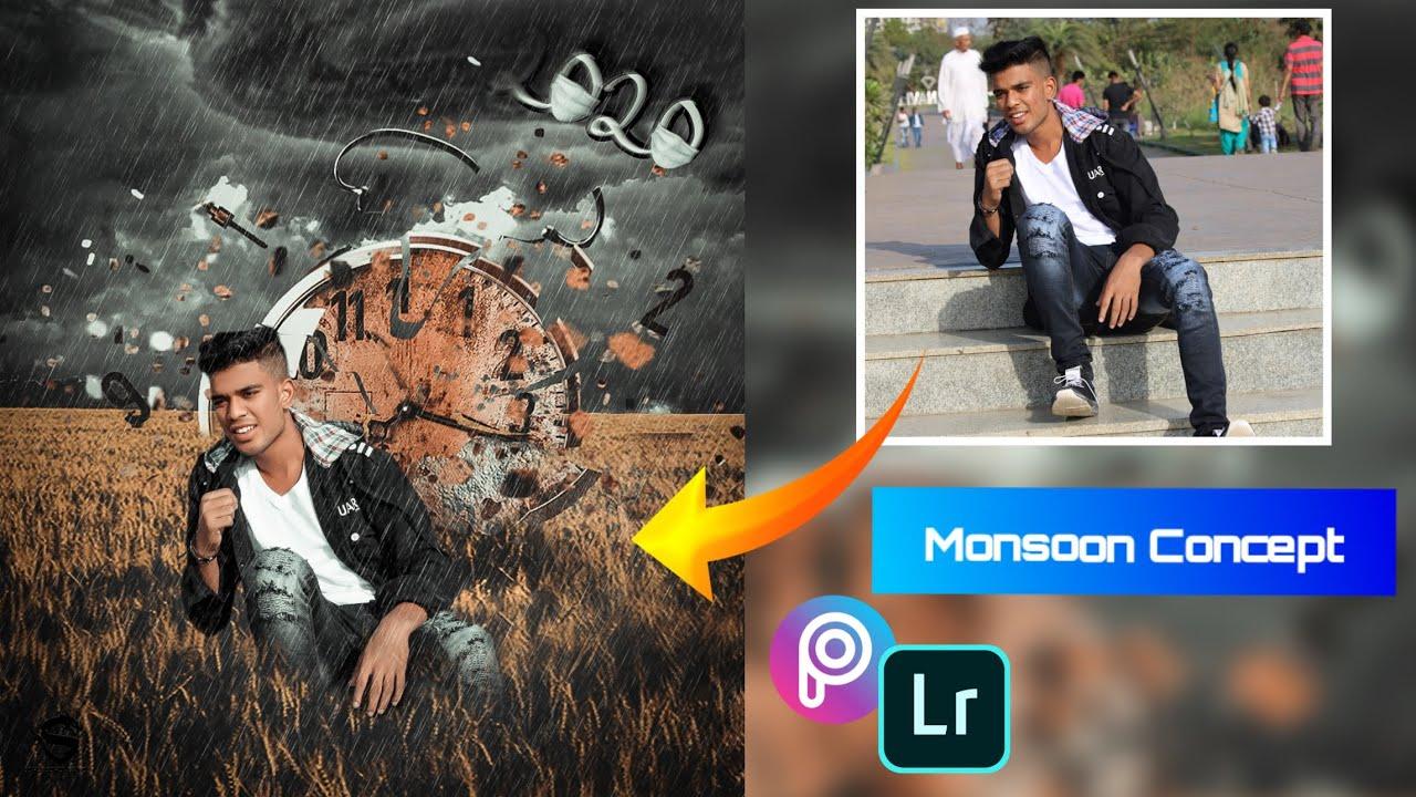 PicsArt Monsoon Season Photo Editing Tutorial in PicsArt