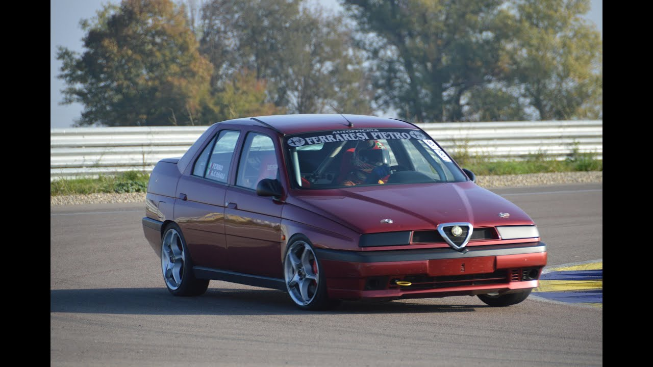 alfa romeo 155 2 0 t spark race car on track youtube. Black Bedroom Furniture Sets. Home Design Ideas