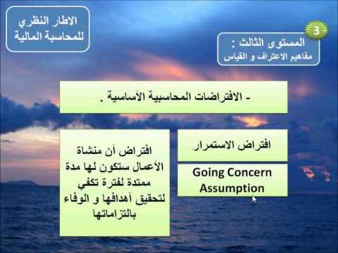 محاسبة متوسطة 6 - الافتراضات المحاسبية الأساسية