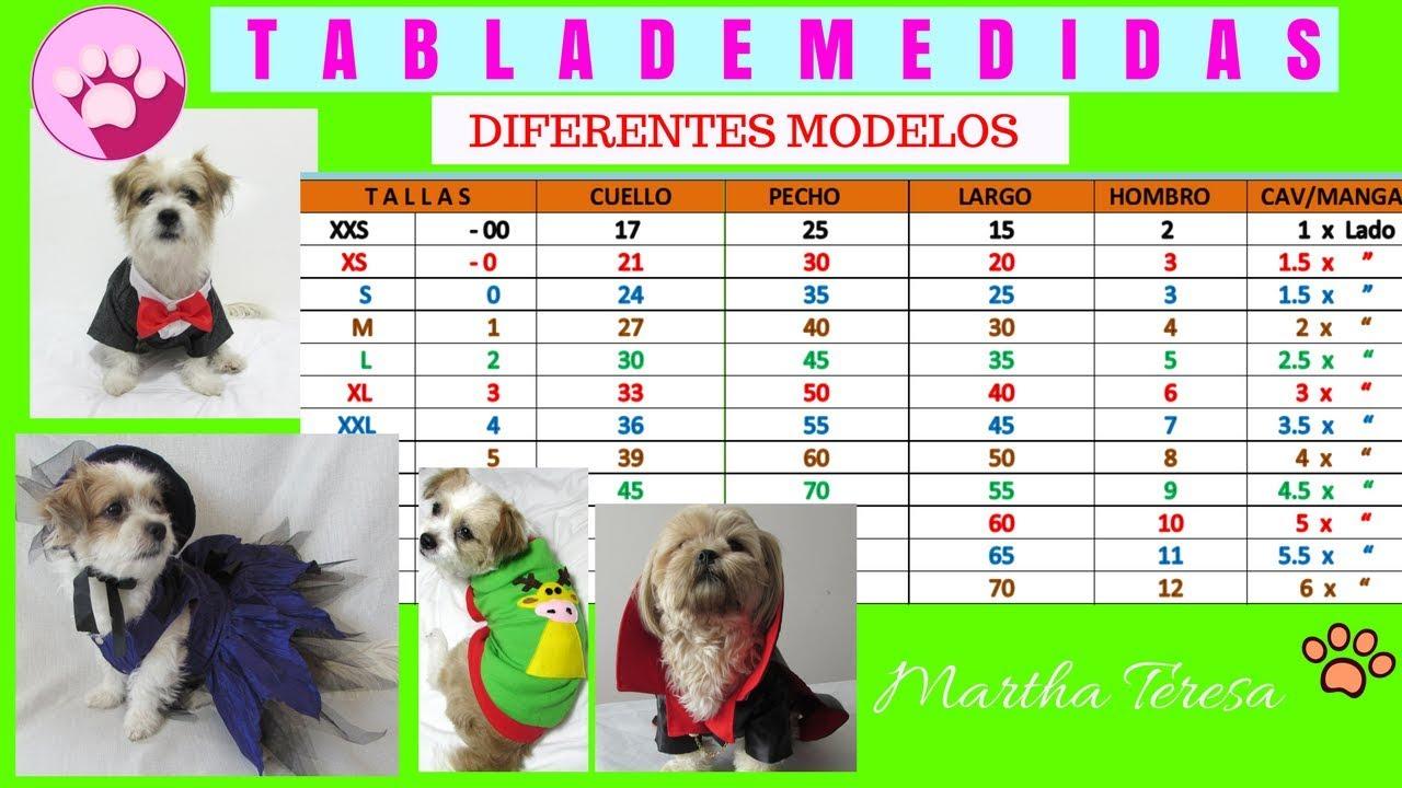 TABLA DE MEDIDAS BÁSICAS 1-Ropita Para Mascotas.Diferentes Modelos ...