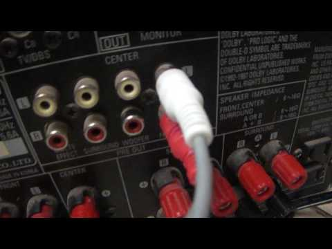 preamp hookup to receiver