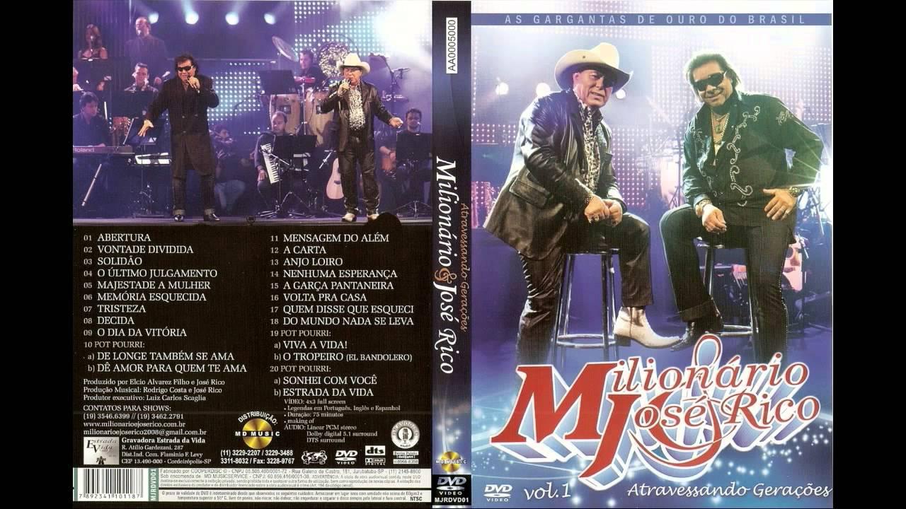 dvd do milionario e jose rico-atravessando geraes