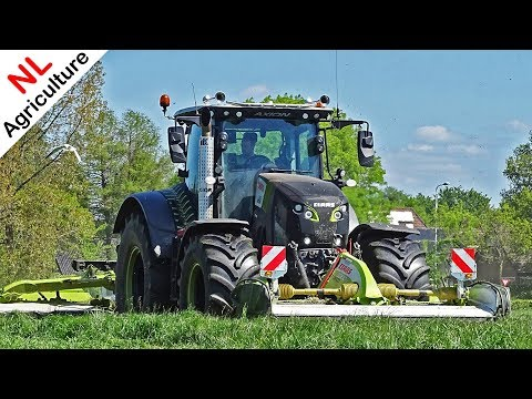 Mowing Grass 2020 ● Claas Axion 850 Black Edition + Claas Triples ● Gras Maaien ● Pleizier & Timmer.